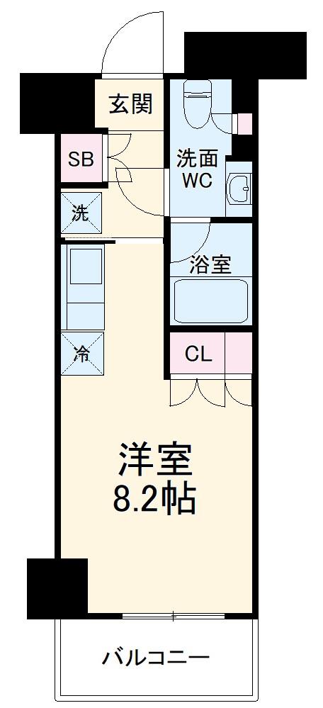 パークアクシス横浜大通り公園・917号室の間取り
