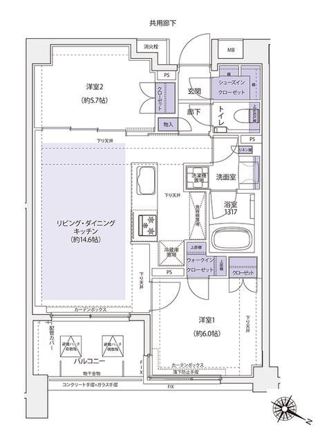 マスターズ ヒル横浜紅葉坂・510号室の間取り