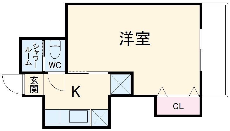 メゾンソレイユ 1-D号室の間取り