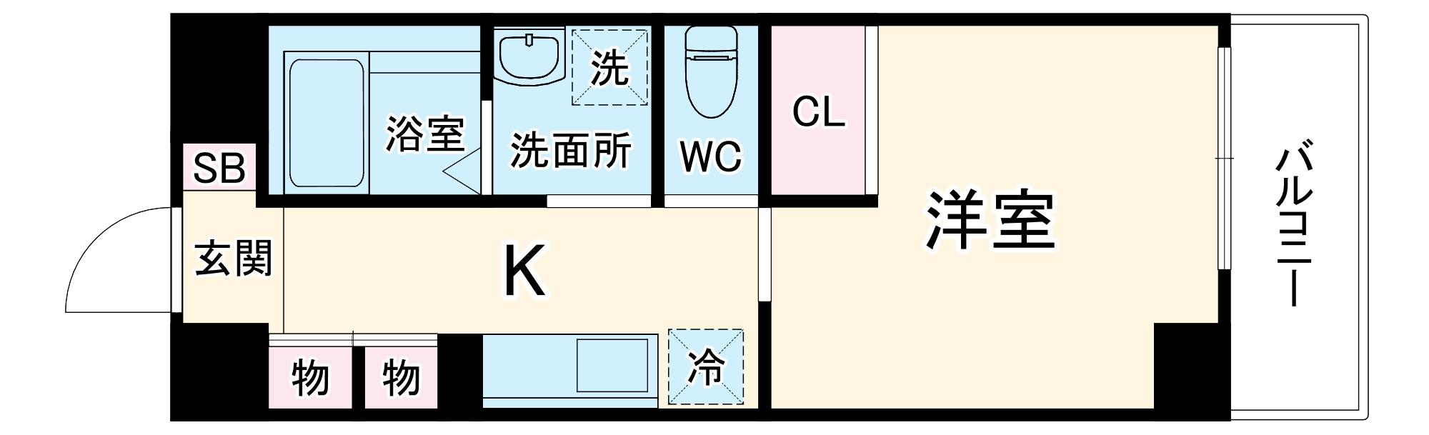 仮)新築 一宮市大宮2丁目マンション・402号室の間取り