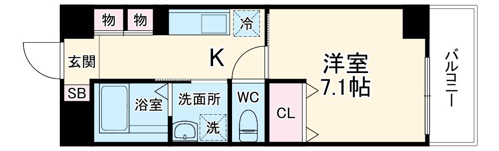 仮)新築 一宮市大宮2丁目マンション・404号室の間取り
