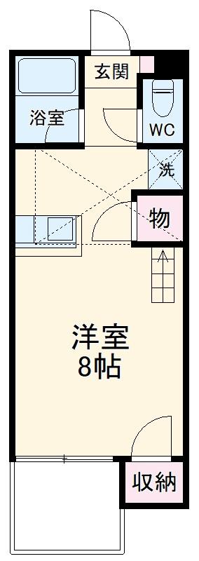 セザンヌ松井・107号室の間取り