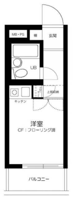セントヒルズ笹塚・407号室の間取り