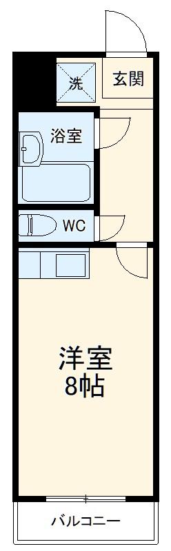 ポンデロッサ鶴見Ⅱ 103号室の間取り