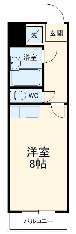 ポンデロッサ鶴見Ⅱ 108号室の間取り