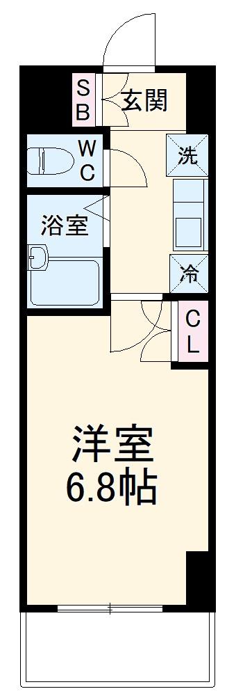 グランシャルム浦安Ⅱ・506号室の間取り