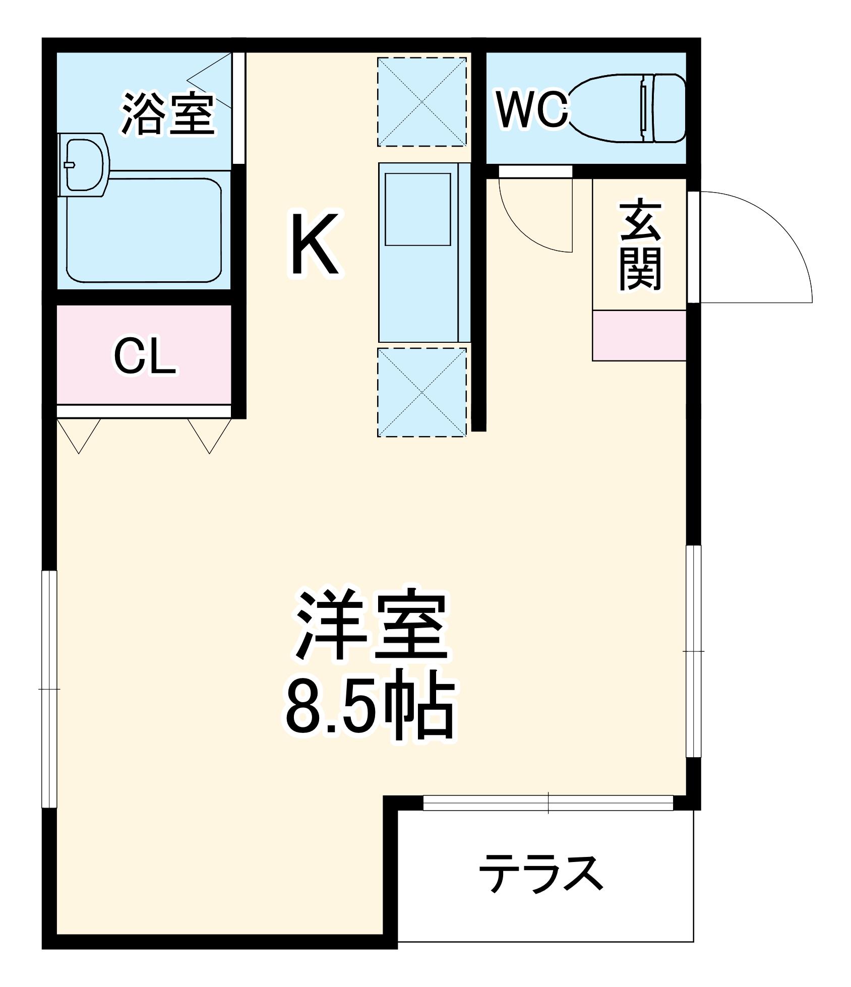 サウスステーション上飯田 102号室の間取り
