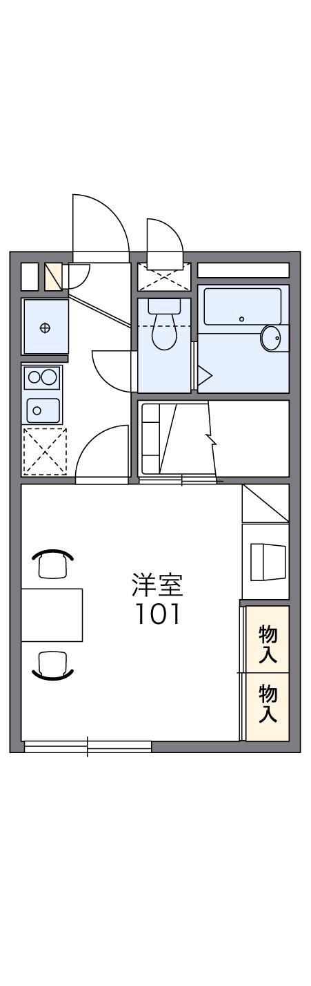 レオパレスKOTOBUKI Ⅱ 104号室の間取り