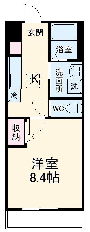 木更津市木更津2丁目新築アパート・102号室の間取り