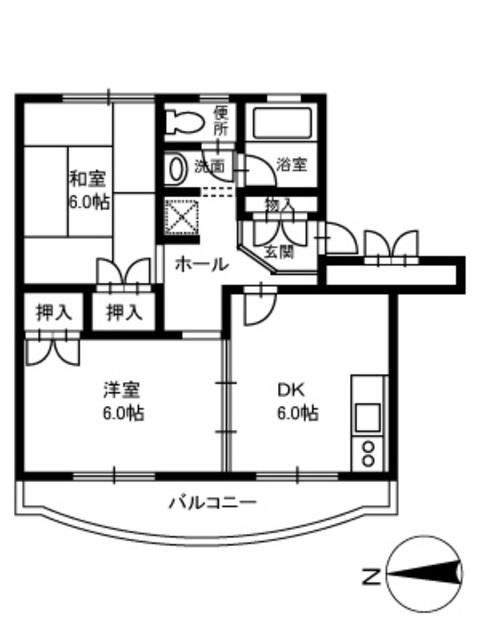 マモール北久里浜A,B・B106号室の間取り