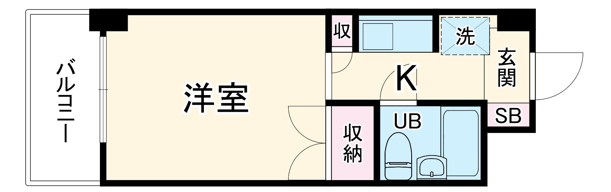 モナークマンション武蔵新城第2 319号室の間取り
