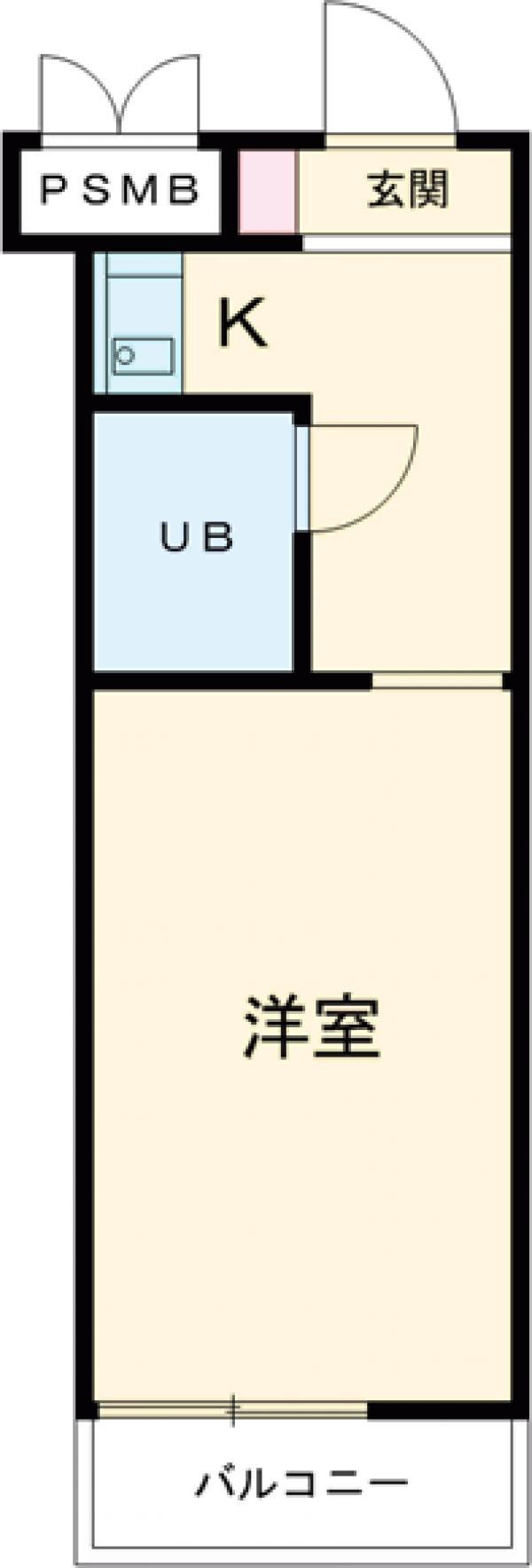 メゾン・ドール氷川台・201号室の間取り