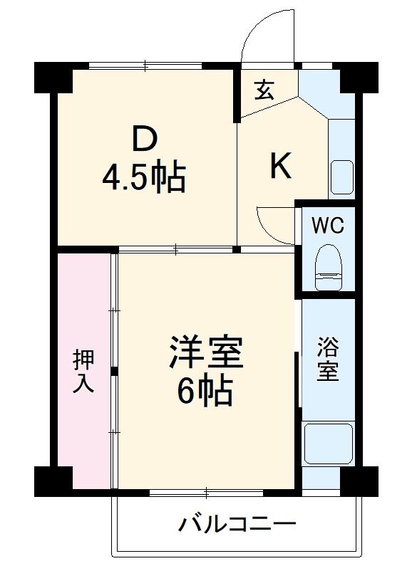 ビレッジハウス茨木2号棟・111号室の間取り