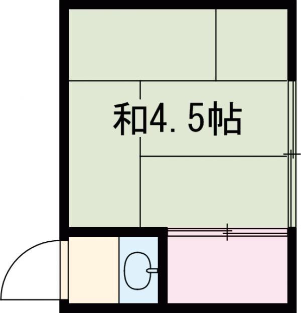 島田荘・2号室の間取り