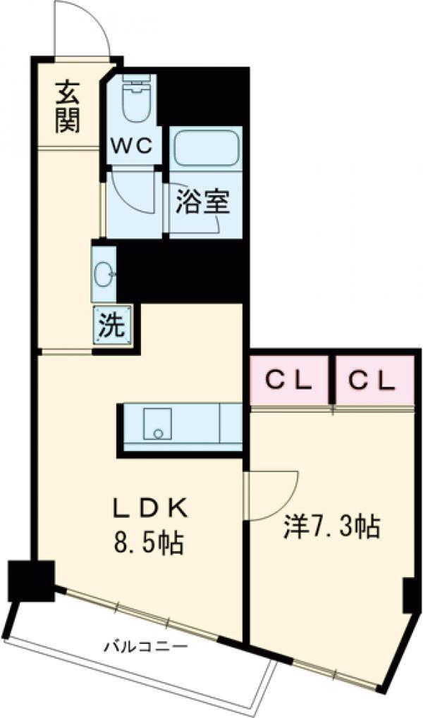 ライオンズマンション駒沢 504号室の間取り