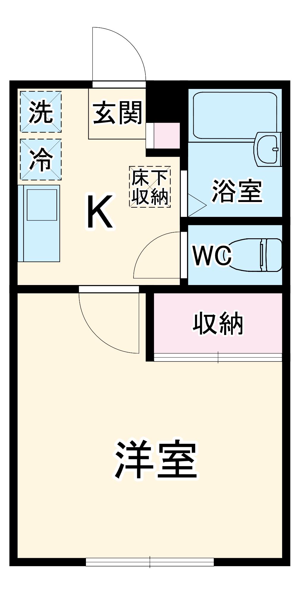 シャングリラ湘南・102号室の間取り