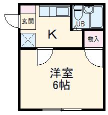 モンパレス太田第6Ⅰ棟・202号室の間取り
