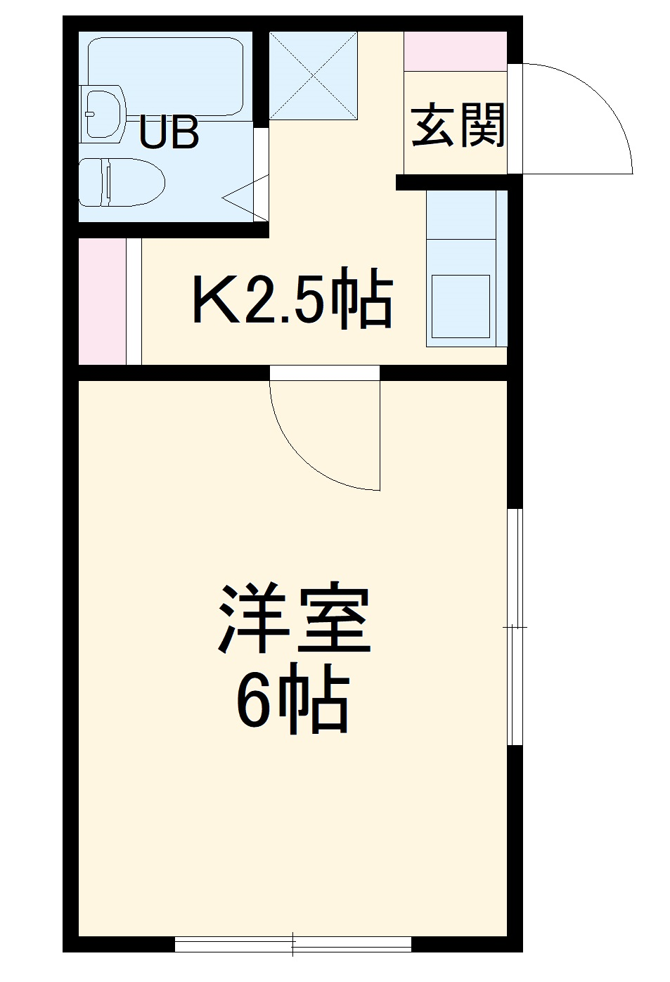 モンパレス太田第6Ⅰ棟・201号室の間取り