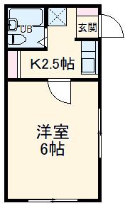 モンパレス太田第6Ⅰ棟・101号室の間取り