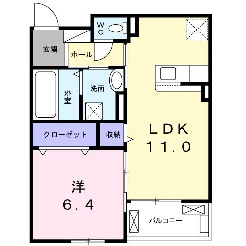 ゼクシー 桜ケ丘A棟・03020号室の間取り