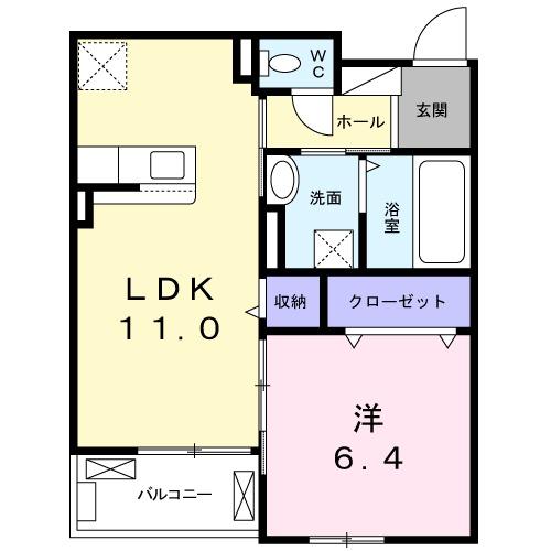 ゼクシー 桜ケ丘A棟・03030号室の間取り
