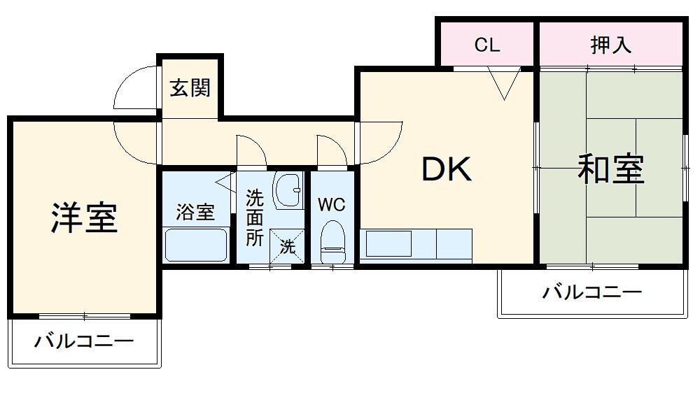 リバーサイドマンション・レオⅡ・202号室の間取り
