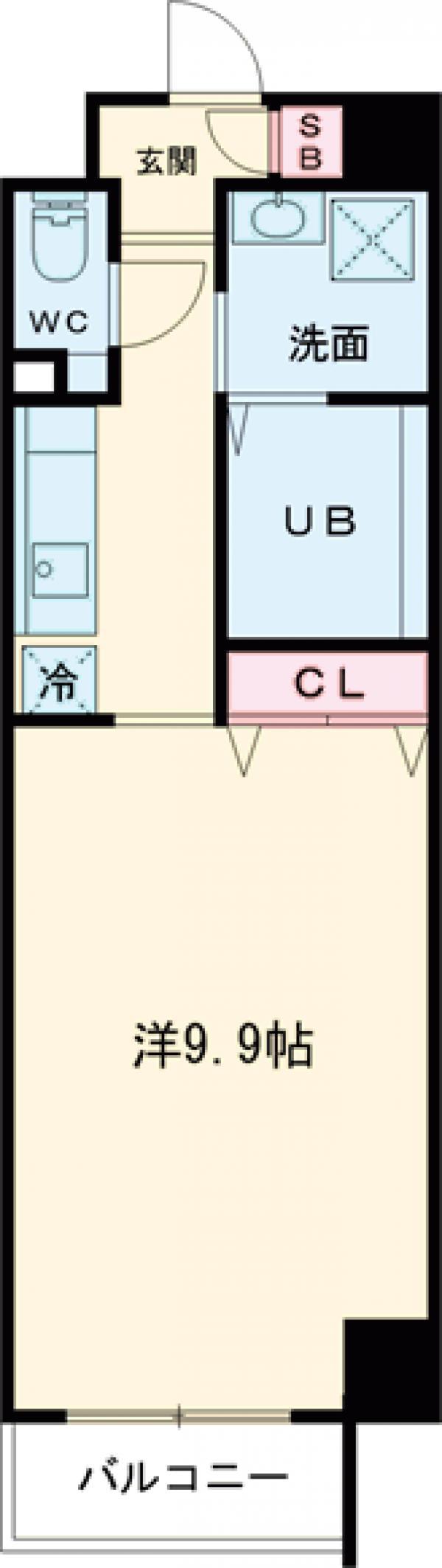 ビュークレスト小金井・305号室の間取り