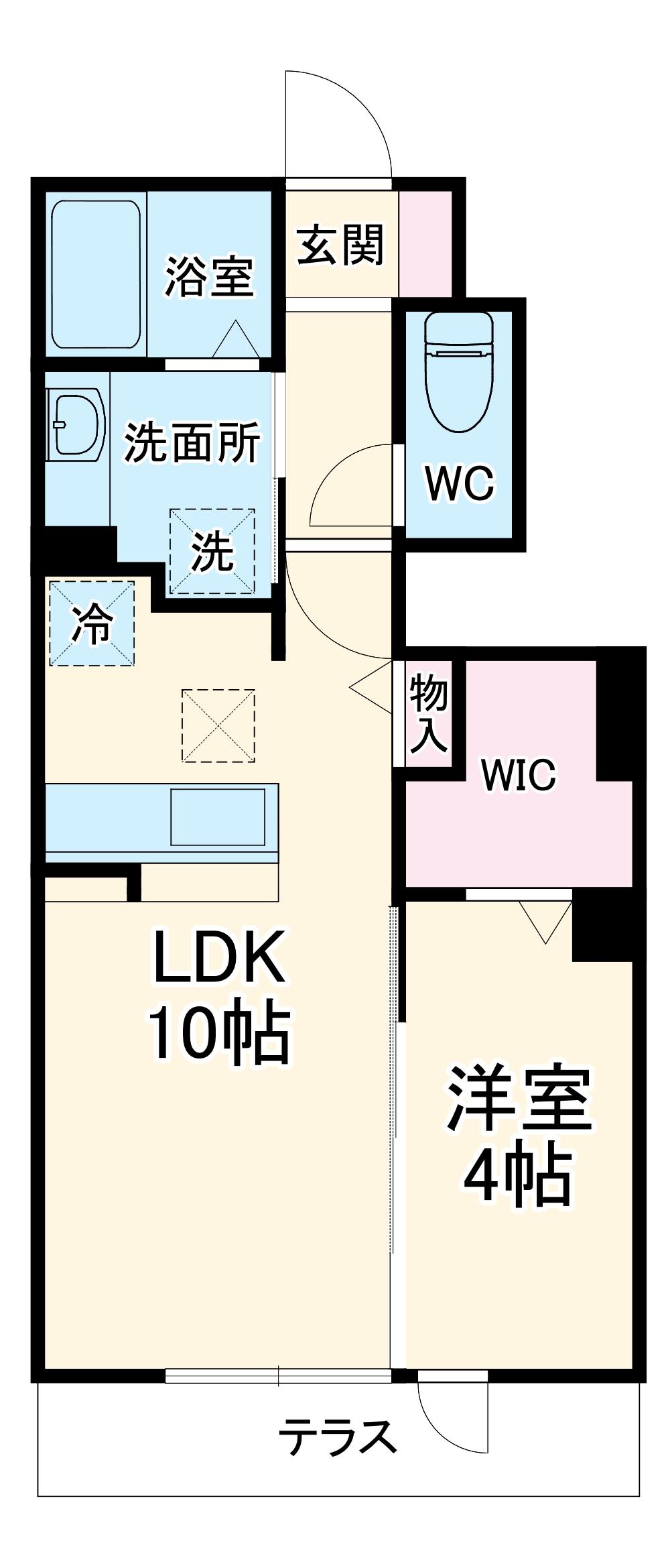 D-room飯倉 102号室の間取り