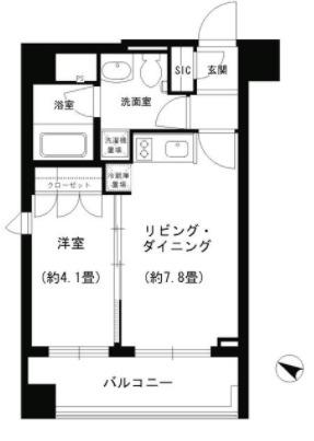PORTO PARTIRE YOKOHA・510号室の間取り