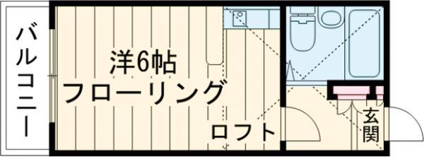 プランタン篠崎・301号室の間取り