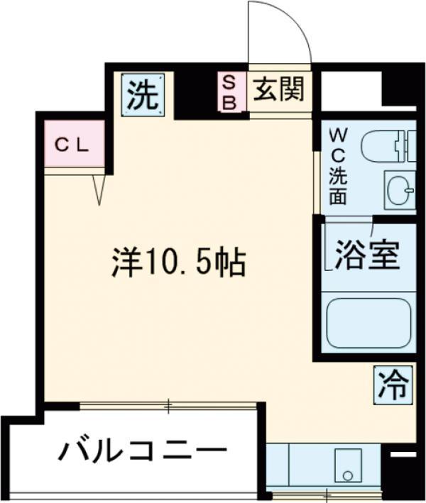 ヴァリエ原町田・208号室の間取り