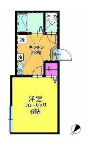 ラプラージュ横浜 203号室の間取り