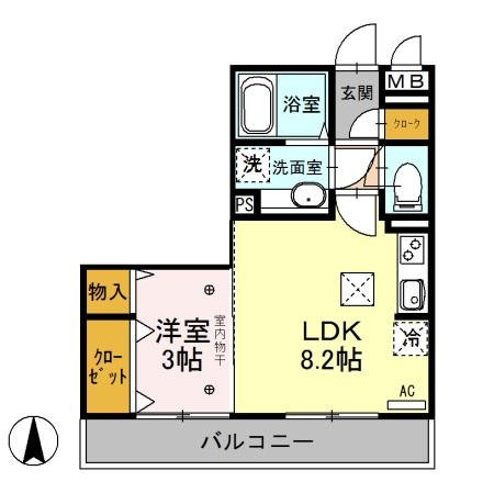 エタルナ倉賀野・105号室の間取り