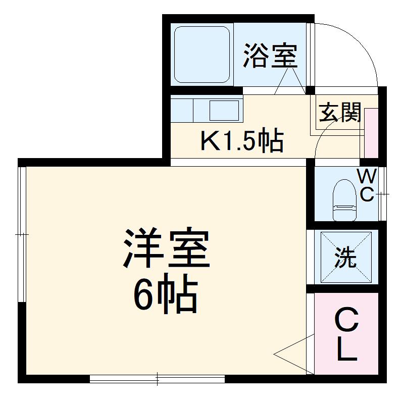 新井荘・202号室の間取り