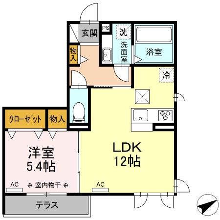仮)D-room森田町 101号室の間取り