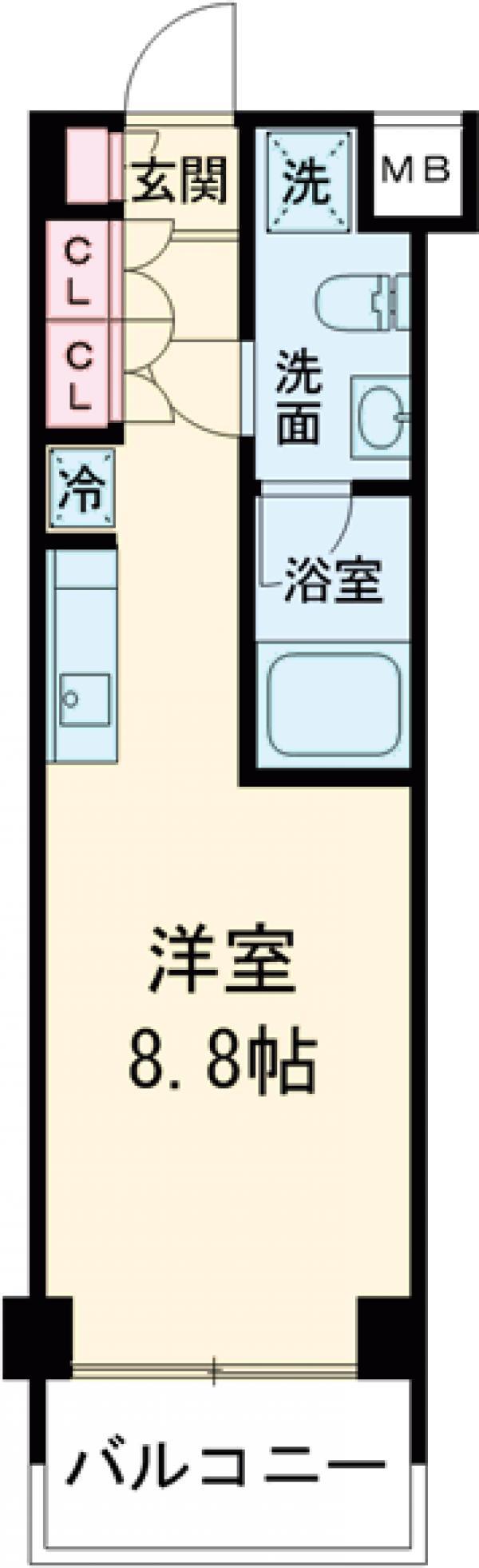 イプセ蒲田WEST・314号室の間取り