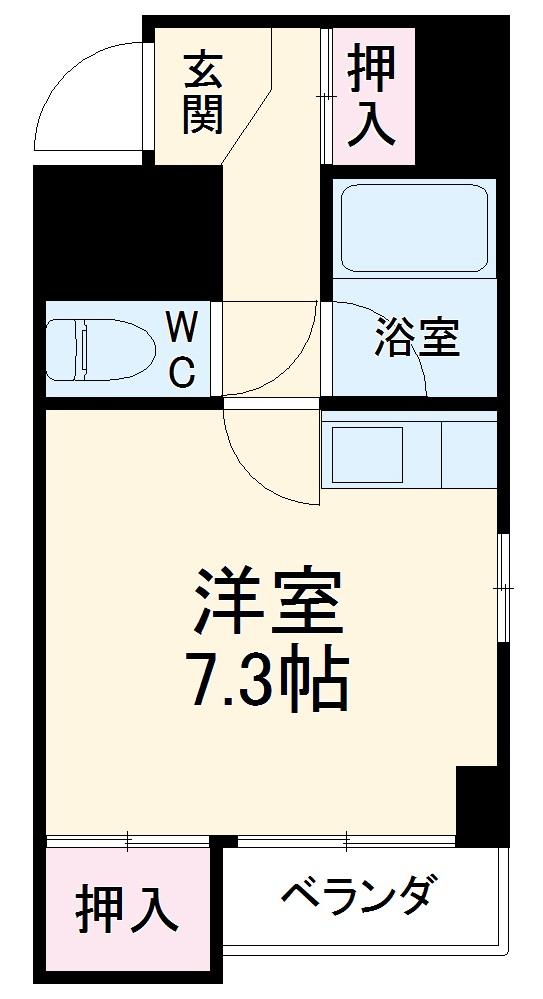 プロクシースクエア徳川・201号室の間取り