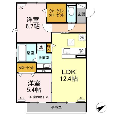 仮)D-room森田町 107号室の間取り