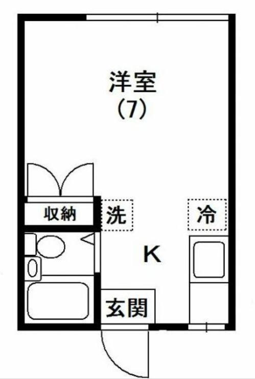 サンハイム遠矢塚・102号室の間取り
