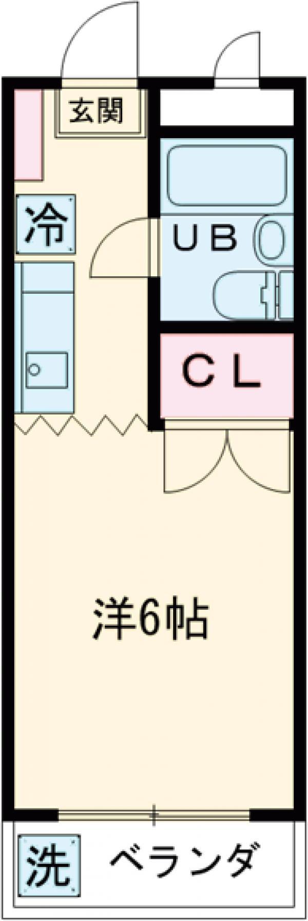 グリーンハイム花小金井 201号室の間取り