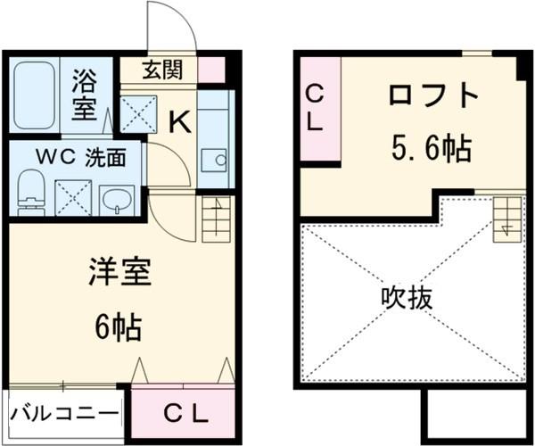 スリジエ 松戸 02030号室の間取り