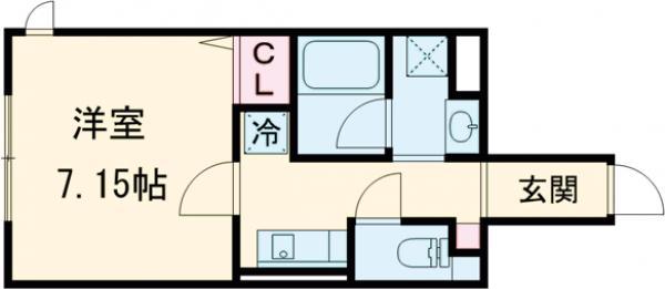 O2レジデンス青井・102号室の間取り