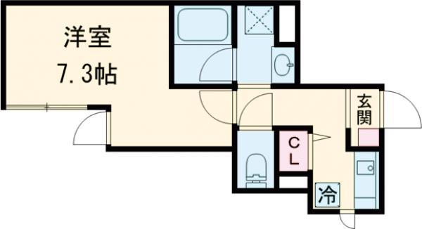 O2レジデンス青井・105号室の間取り