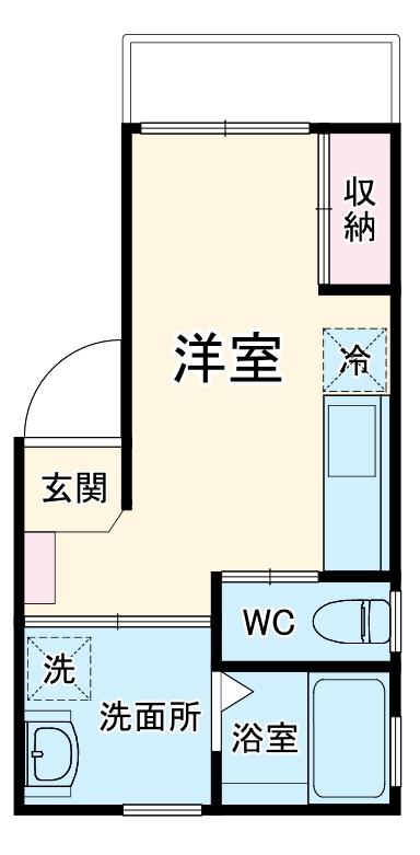 ルミエリア横浜 301号室の間取り