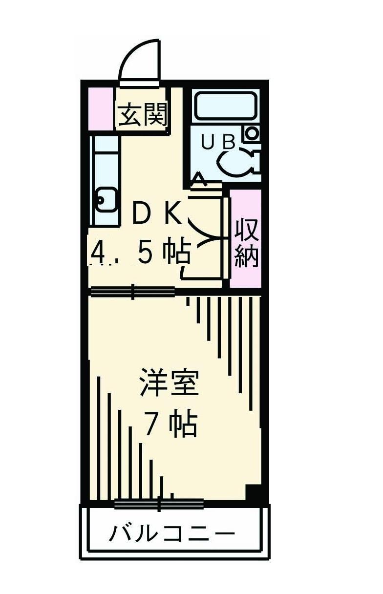 サンヒルズ斉藤・102号室の間取り