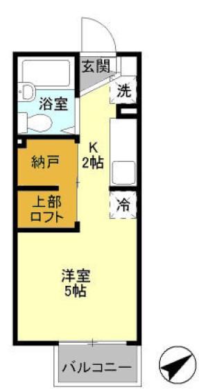 D-Room KASUGA・102号室の間取り