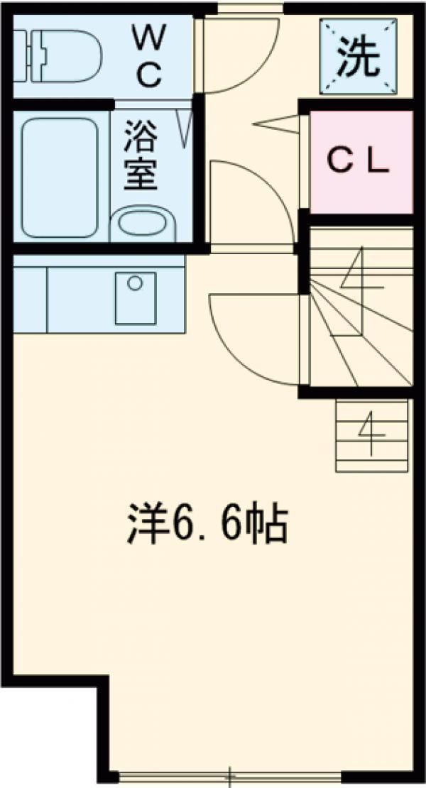 ウィンズ・パレ東小金井・202号室の間取り