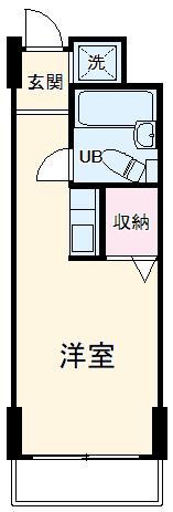 ヴィレッジハウス千葉南・B-207号室の間取り