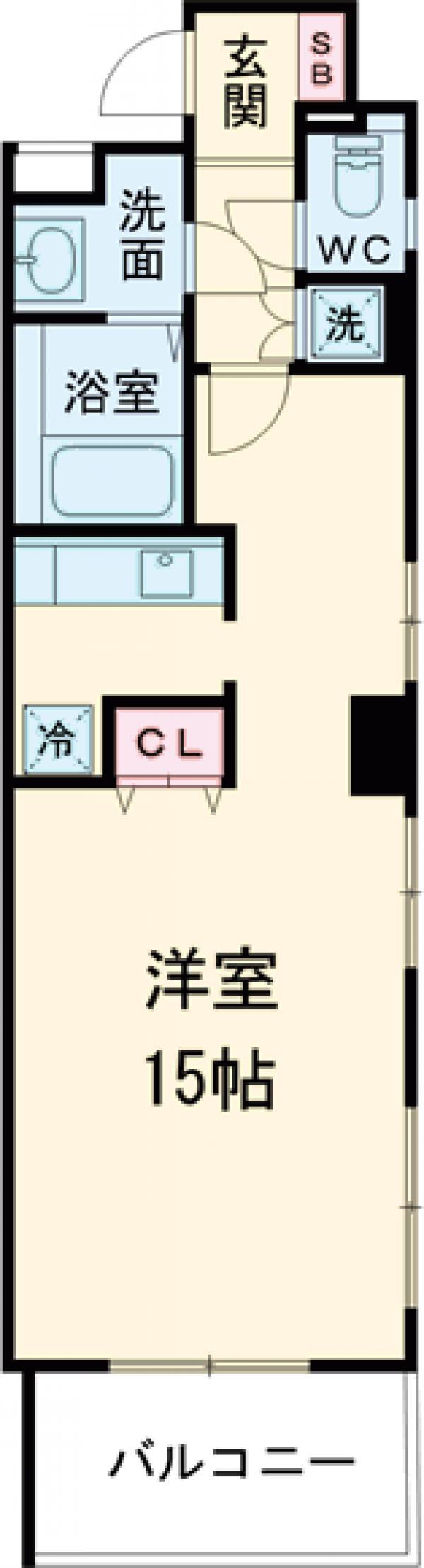 ラング・マンション立川・705号室の間取り