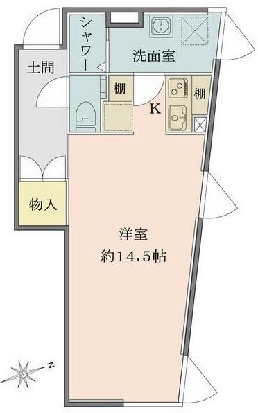 Solana Takanawadai・102号室の間取り